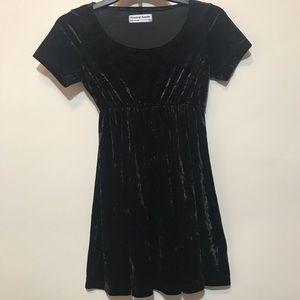 AMERICAN APPAREL Black Velvet Dress